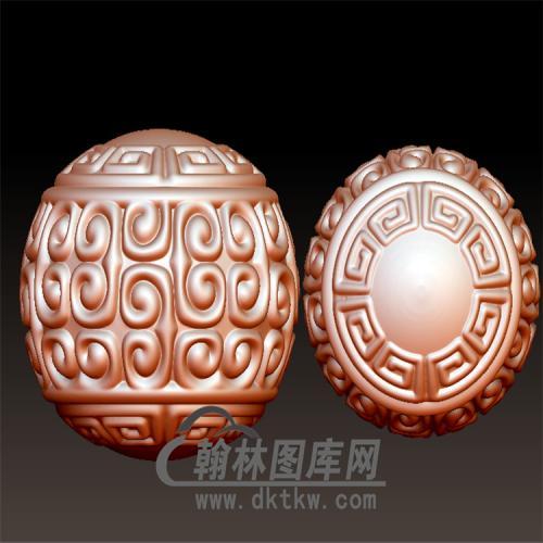回纹圆珠立体圆雕图(YST-013)