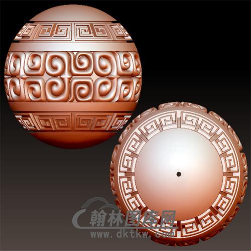 加深回纹圆珠立体圆雕图(YST-016)