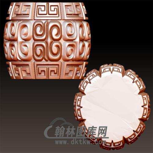 回文桶珠立体圆雕图(YST-017)