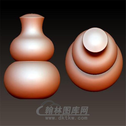 葫芦三通立体圆雕图(YST-023)