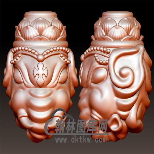 象神三通立体圆雕图(YST-030)