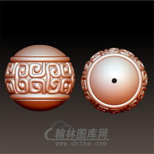 回纹圆珠立体圆雕图(YST-034)