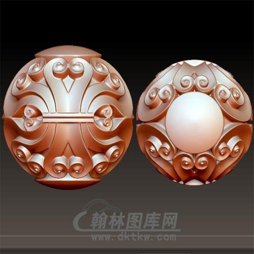 小花珠手串立体圆雕图(YST-035)
