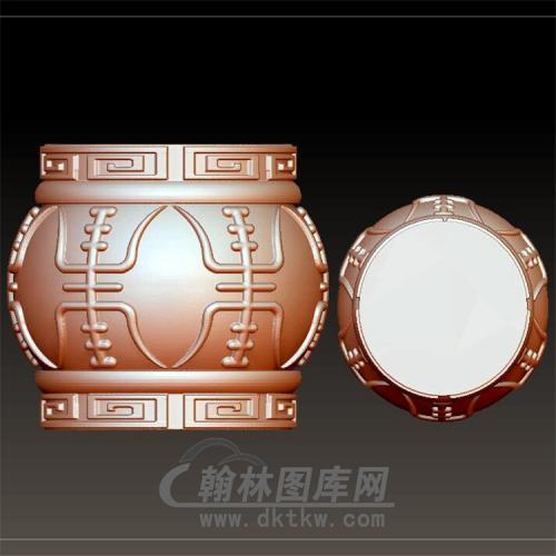 寿字桶珠立体圆雕图(YST-037)