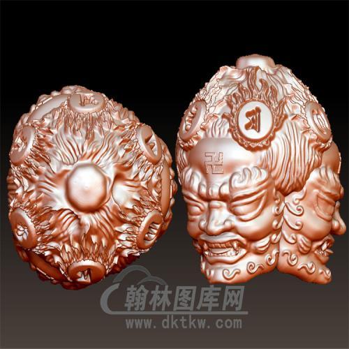 三头明王—头立体圆雕图(YST-056)