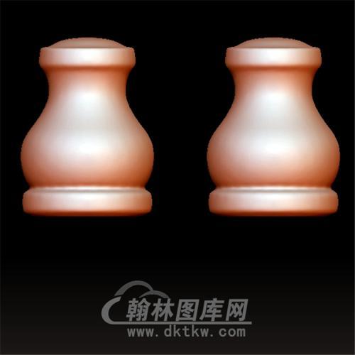 素三通佛塔立体圆雕图(YST-059)