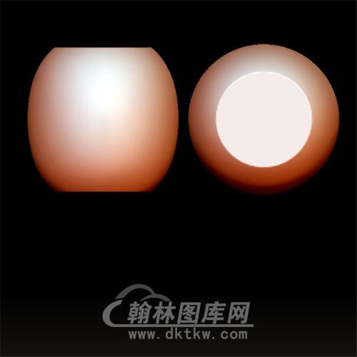 素三通佛头立体圆雕图(YST-060)