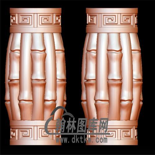 竹节桶珠手串立体圆雕图(YST-061)