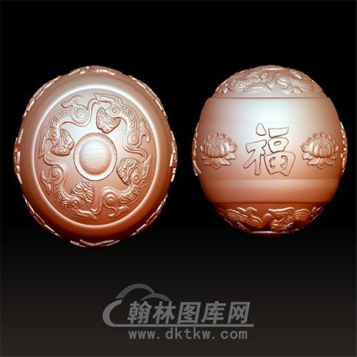 福寿安康莲花珠立体圆雕图(YSQ-019)