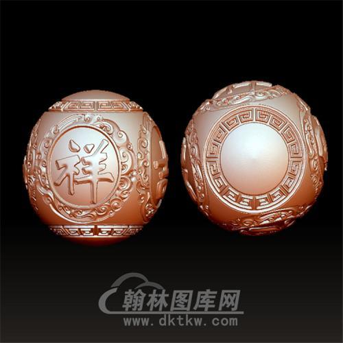 吉祥如意珠立体圆雕图(YSQ-020)