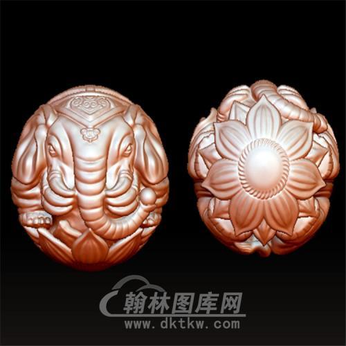六牙象珠立体圆雕图(YSQ-021)