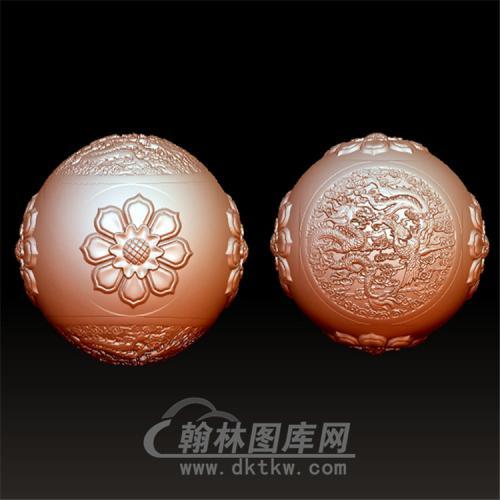龙凤吉祥立体圆雕图(YSQ-022)