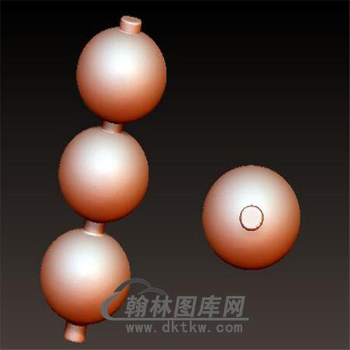 佛珠3个立体圆雕图(YSQ-032)