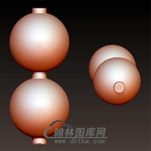 佛珠2颗立体圆雕图(YSQ-033)