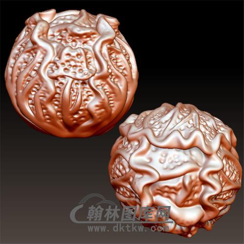 白菜圆珠子立体圆雕图(YSQ-040)