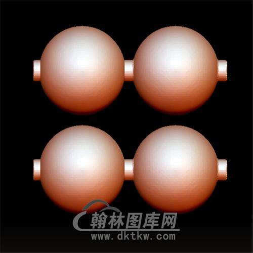 佛珠2颗立体圆雕图(YSQ-044)