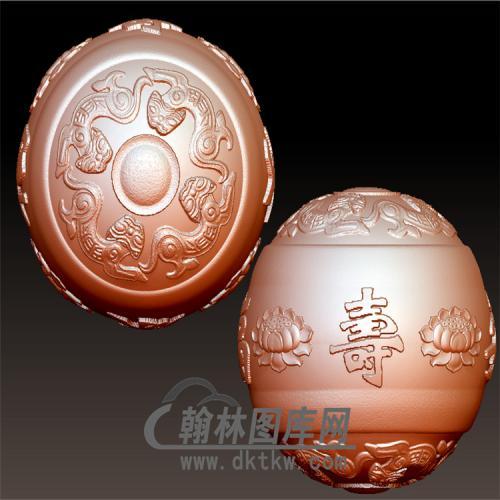 福寿安康莲花珠立体圆雕图(YSQ-045)