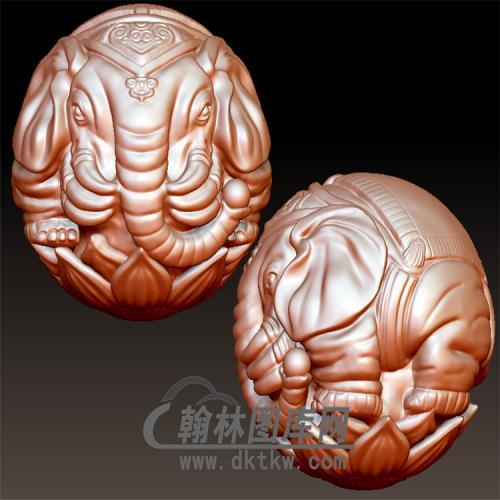 六牙象珠立体圆雕图(YSQ-053)
