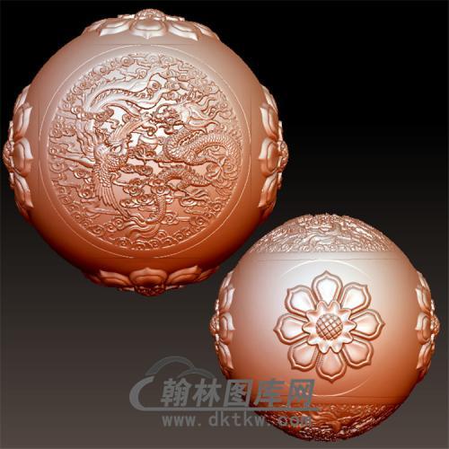 龙凤吉祥立体圆雕图(YSQ-055)