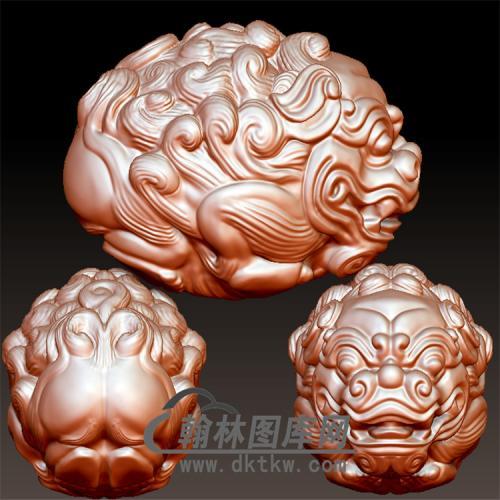 狮子核雕立体圆雕图(YSQ-058)