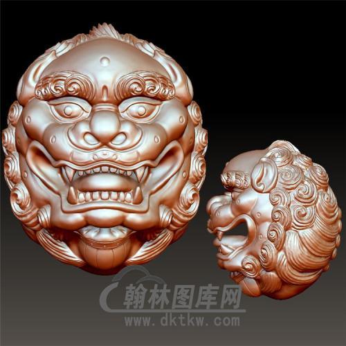 狮子球立体圆雕图(YSQ-059)