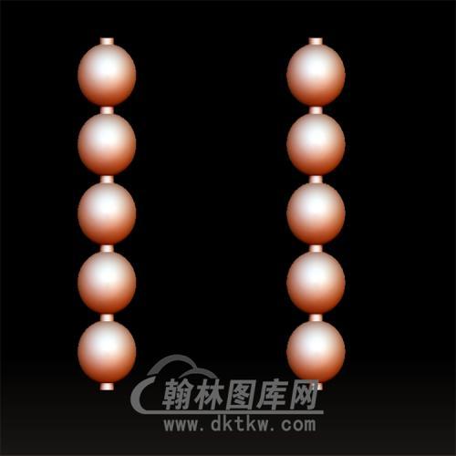 圆珠5颗立体圆雕图(YSQ-060)