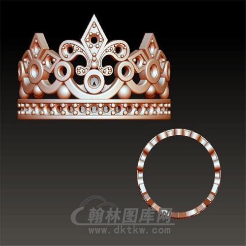 皇冠戒指立体圆雕图(YSJ-007)