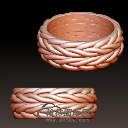 编织纹戒指立体图(YSJ-058)