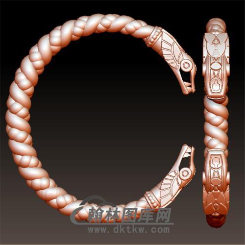 蛇手镯立体图(YSJ-094)