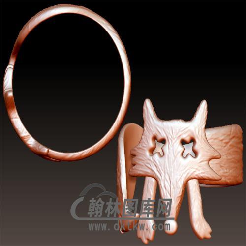 狐狸戒指立体图(YSJ-097)