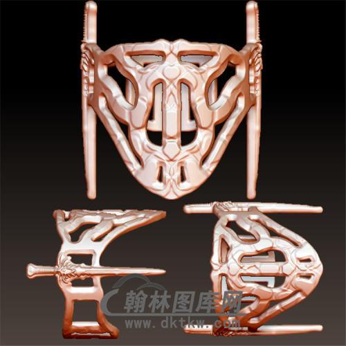 古剑装戒指立体图(YSJ-098)