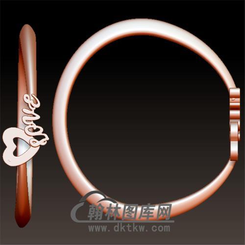 爱心戒指立体圆雕图(YSJ-099)