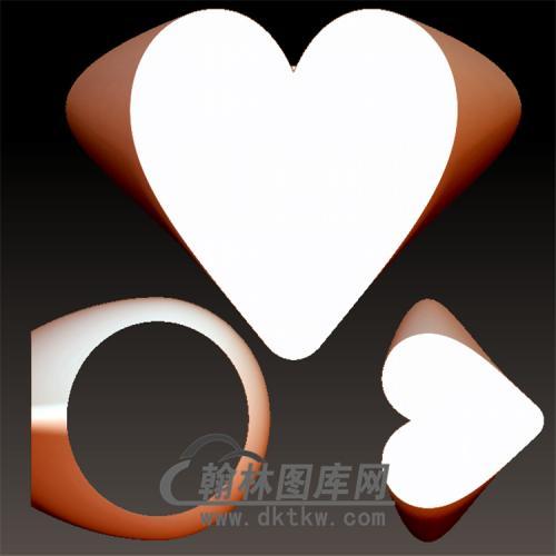 爱心戒指立体图(YSJ-100)