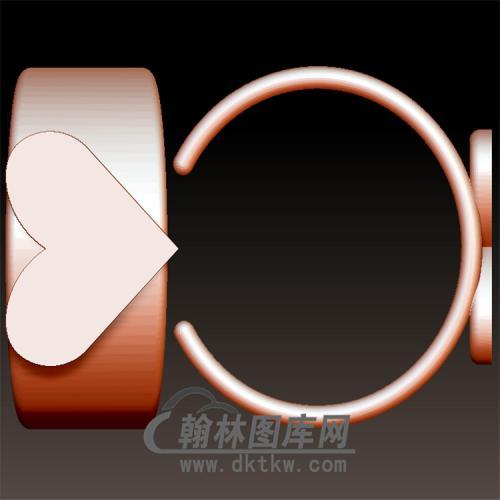 爱心戒指立体图(YSJ-101)