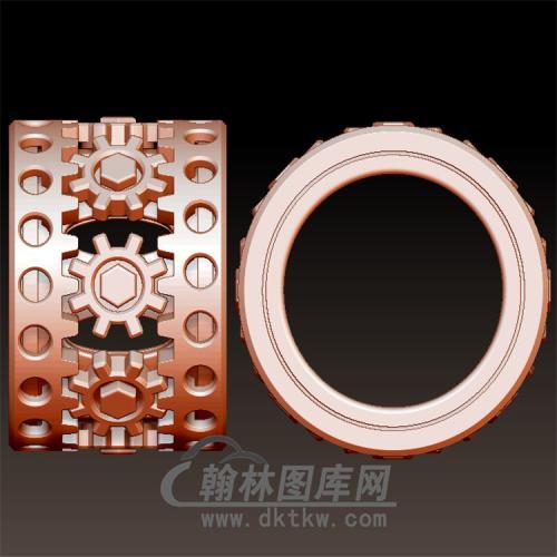 机械齿轮戒指立体图(YSJ-102)