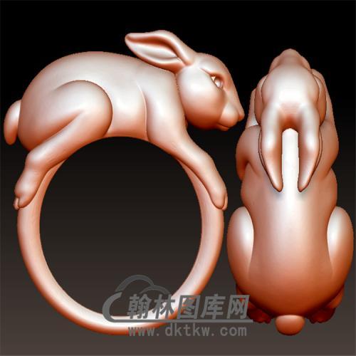 兔子戒指立体图(YSJ-117)