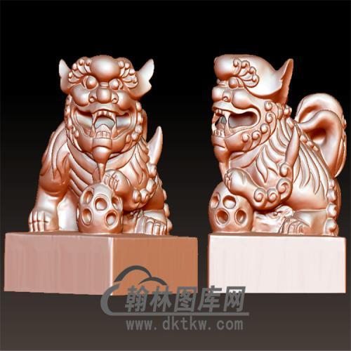 印章狮子立体圆雕图(YYD-006)