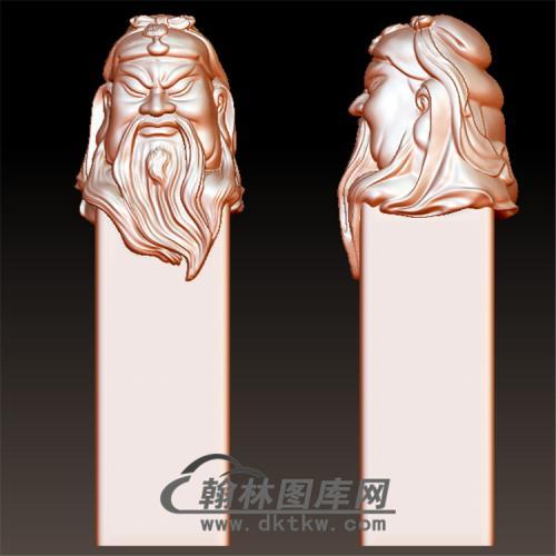 关羽印章立体圆雕图(YYD-012)