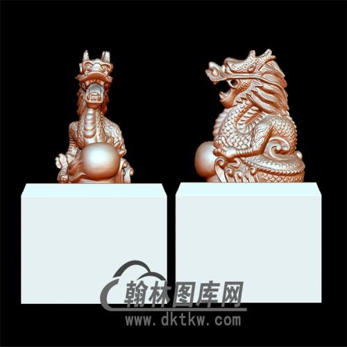 玉玺盘龙印章立体圆雕图(YYD-020)