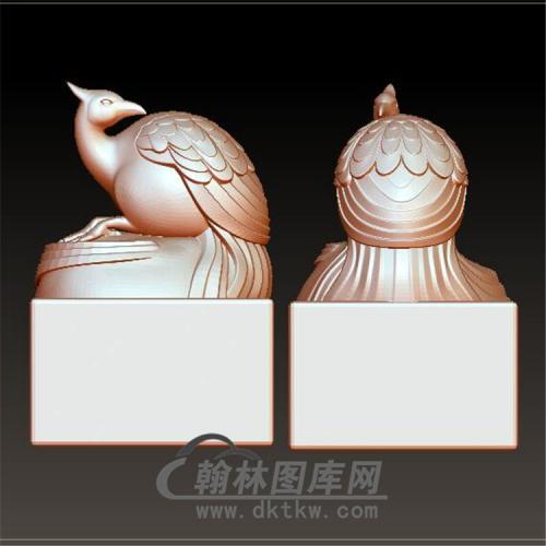 凤凰印章立体圆雕图(YYD-031)