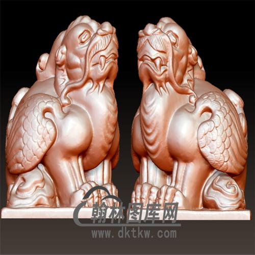 神兽印章立体圆雕图(YYD-045)