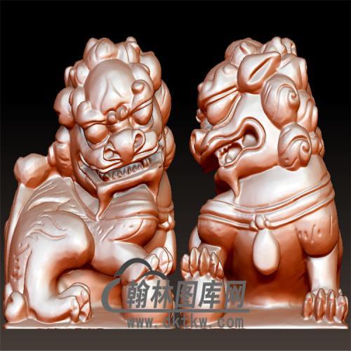 狮子印章立体圆雕图(YYD-049)