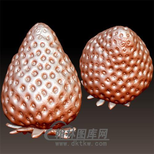 草莓立体圆雕图(YZH-016)
