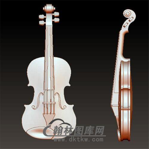 小提琴立体圆雕图(YZH-024)