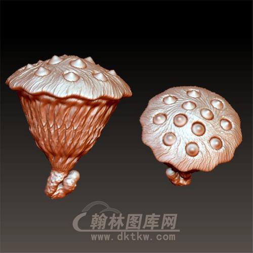 莲蓬立体圆雕图(YZW-007)